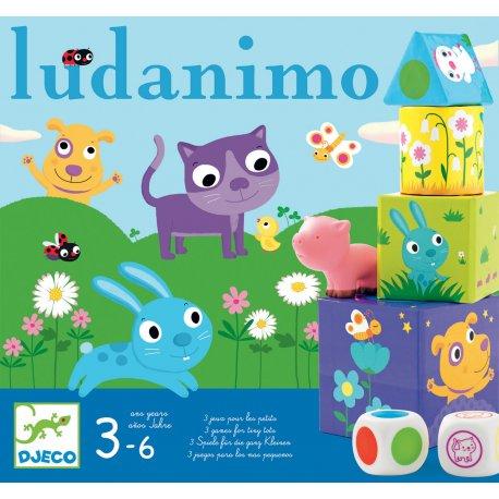 Ludanimo Djeco - 3 jeux en un (mémo, parcours, équilibre)