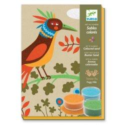 Oiseaux de paradis - Sables colorés Djeco - coffret