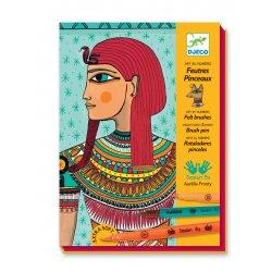 Art égyptien - feutres pinceaux Djeco - Coffret