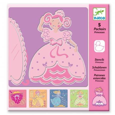 Pochoirs princesses Djeco - Pochette