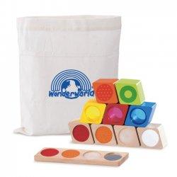 Blocs de construction Sensoriels - sac et contenu