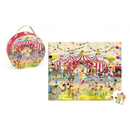 puzzle cirque Janod 54 pièces - Boîte et puzzle