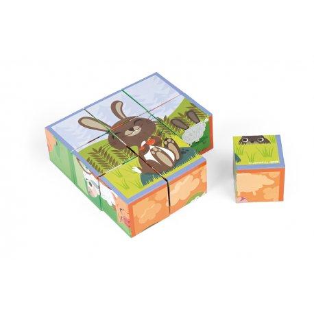9 cubes les animaux de la ferme Janod