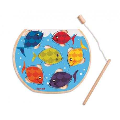 puzzle Speedy Fish - puzzle et canne à pêche
