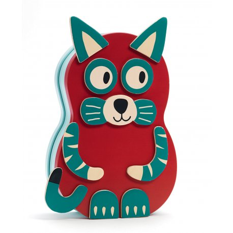 Inzebox Animo - magnets en bois - Djeco - Chat