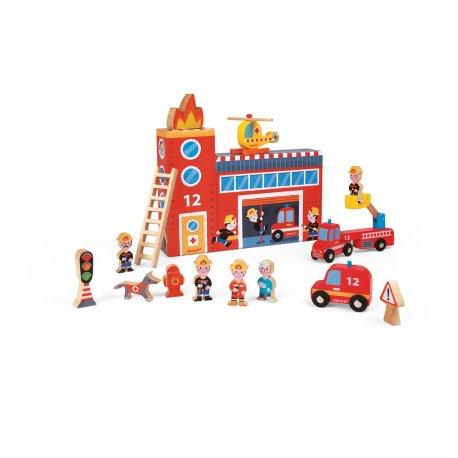 Story Box Pompiers avec figurines
