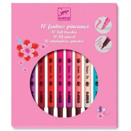 """10 feutres pinceaux, couleurs """"fille"""""""