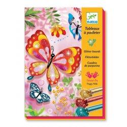 Papillons - Tableaux à pailleter - Coffret