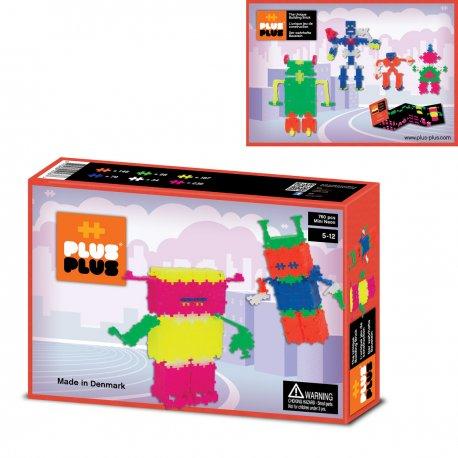 Plus plus Robots Box mini néon 760 pièces