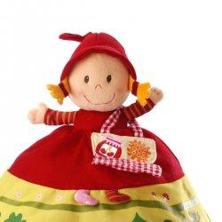 Chaperon Rouge marionnette réversible - Le chaperon rouge détail
