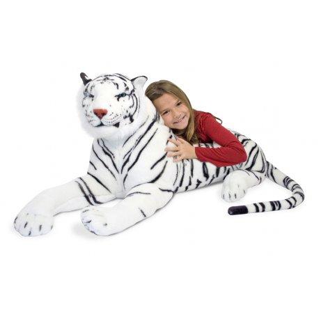 grande peluche tigre blanc 170 cm