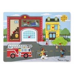 puzzle sonore autour de la caserne de pompiers