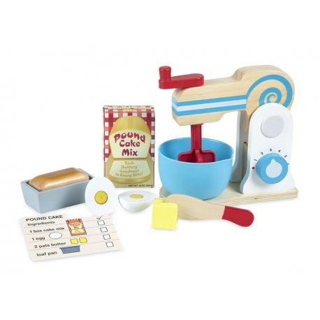 Mixeur en bois et set de pâtisserie