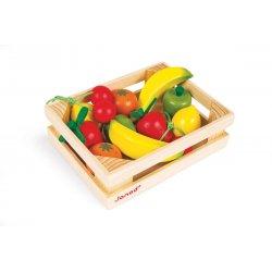 Cagette 12 fruits en bois