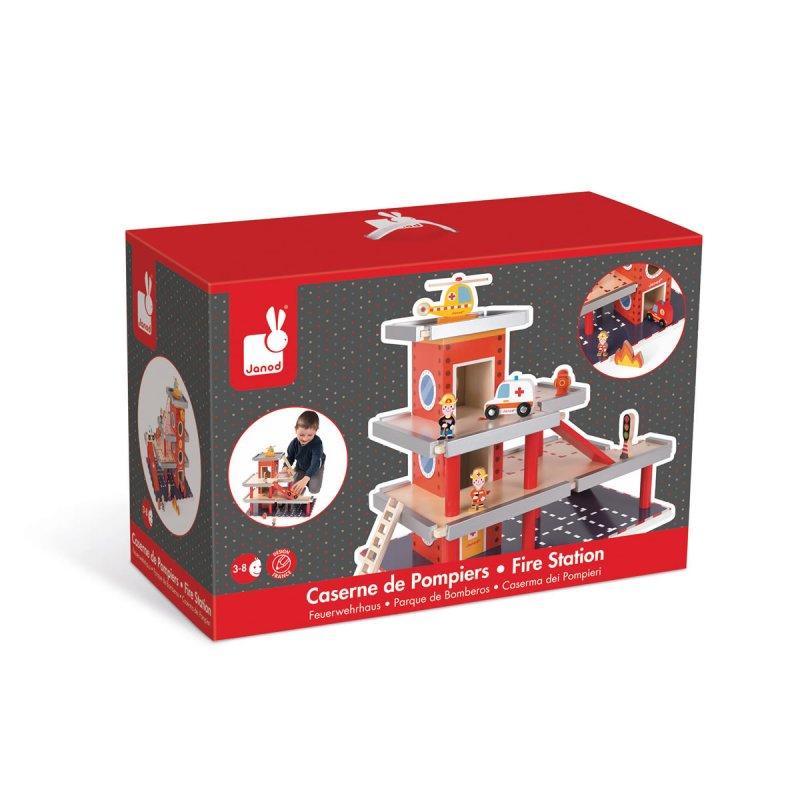 Caserne de pompier jouet en bois janod - Cuisine en bois janod ...