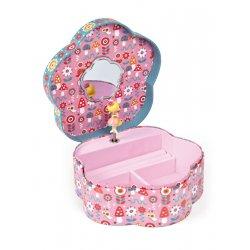 Boîte à bijoux musicale fleur annuschka - danseuse et miroir