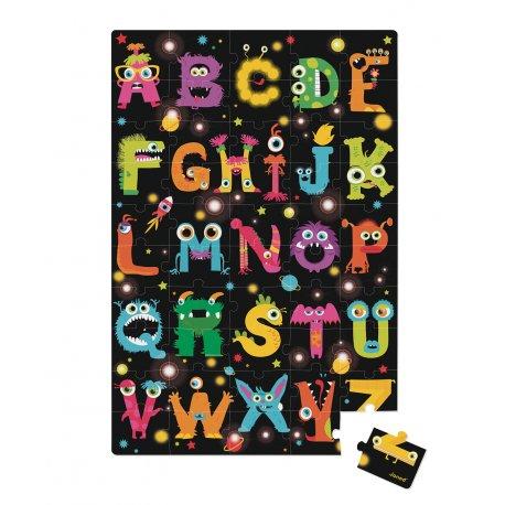 puzzle gant ABC Monsters 50 pièces