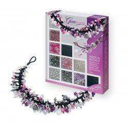 Kit créatif bijoux Perles de rocaille violet
