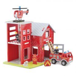 Caserne de pompiers en bois