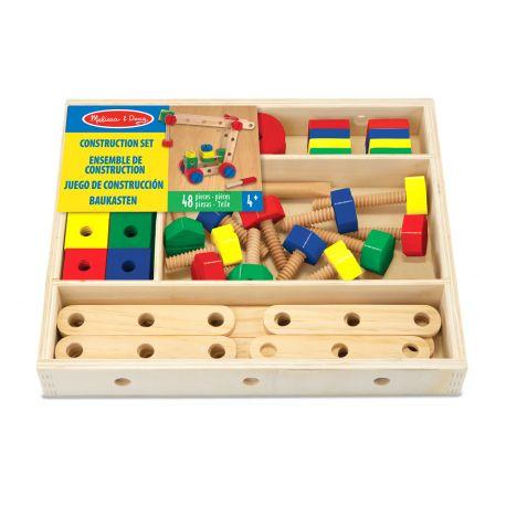 Jeu de construction en bois 48 pièces - coffret Melissa et Doug