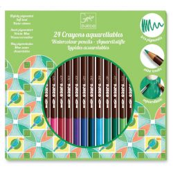 24 crayons aquarellables djeco