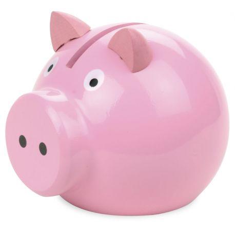 Tirelire cochon rose - vue de profil