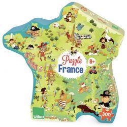 Puzzle Carte des merveilles de France - boite silhouette