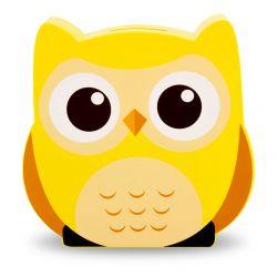 Tirelire Hibou jaune en bois