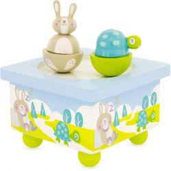 Boîte à musique La tortue et le lapin