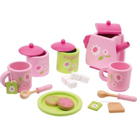 Service à thé rose et vert