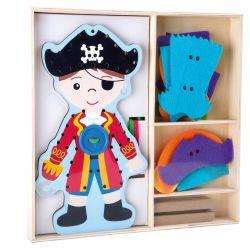 Poupée à habiller et enfiler Pirate