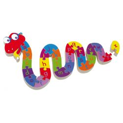 Puzzle à encastrer ABC serpent