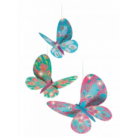 Papillons paillettes Légèretés à suspendre