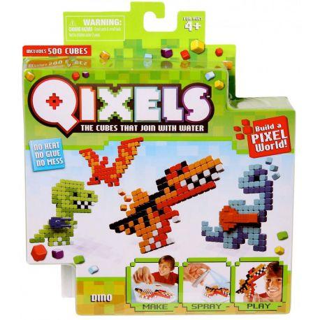Qixels Dinosaures - Mini Kit 4 Créations - boite