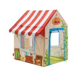 Tente de jeu Marchande - porte et fenêtres ouvertes