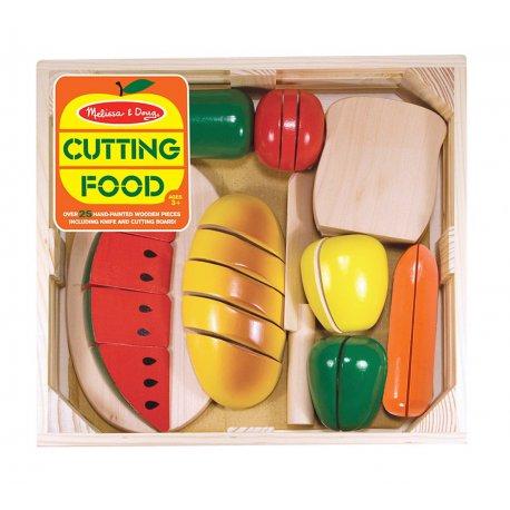 Coffret de dinette fruits et légumes à couper en bois