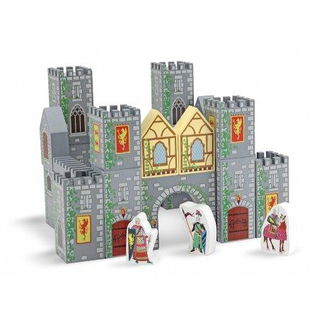 Chateau fort en bois blocs de construction