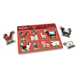 puzzle sonore animaux de la ferme - melissa et doug - les pièces