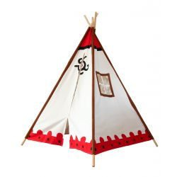 Tipi indien cherokee - vue 3/4 avant