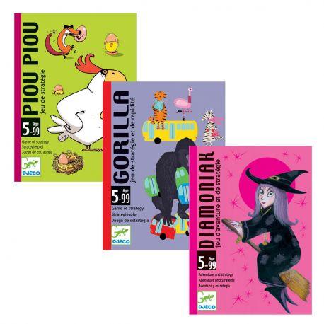 Pack jeux de cartes Djeco 5 ans