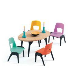 La salle à manger - Mobilier maison de poupées Djeco