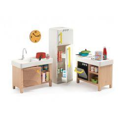 La cuisine - Mobilier maison de poupées Djeco