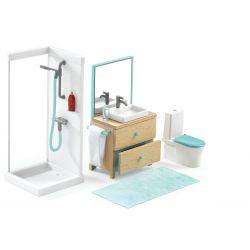 La salle de bain - Mobilier maison de poupées Djeco