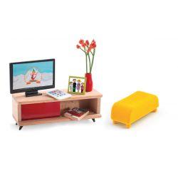 Le salon télévision - Mobilier maison de poupées Djeco