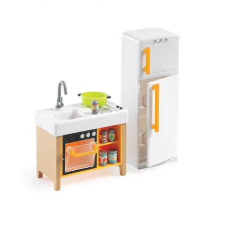 Cuisine compacte - Mobilier maison de poupées Djeco