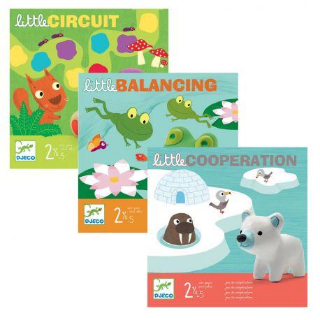 Pack jeux de la collection Little - Djeco