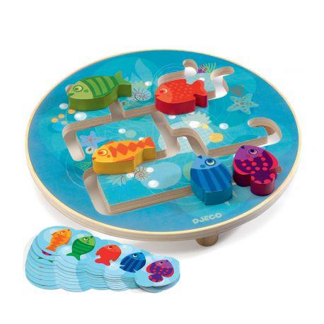 Aquarium Jeu éducatif en bois Djeco