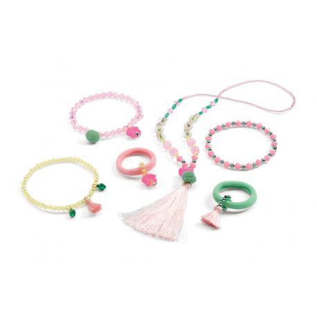 Coffret de Bijoux Pompons et étoiles - Collier et bracelets