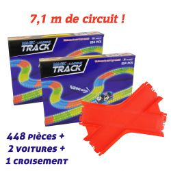 Mega set Magic Tracks voiture de course rouge