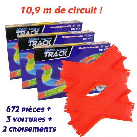 Giga set Magic Tracks 672 pièces + 2 croisements